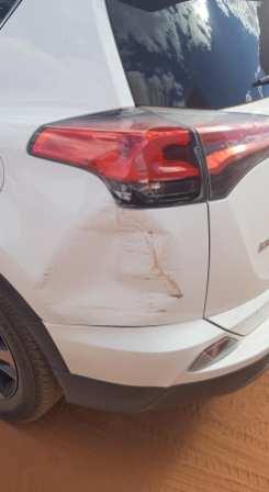 Acrochage en voiture à Monument Valley