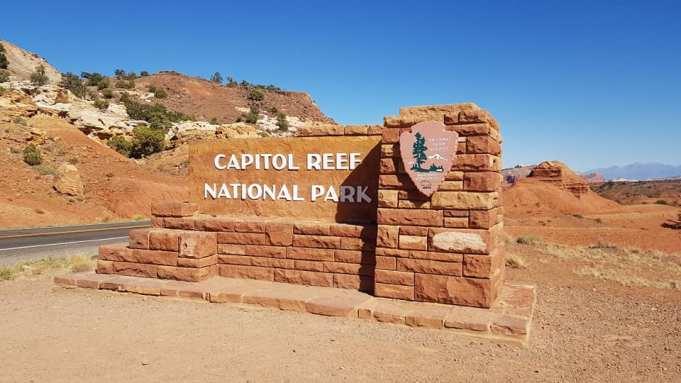 Entrée de Capitol Reef National Park