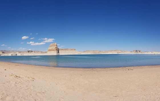 Plage de Lone Rock Beach - lac Powell