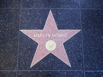 Walk of fame - Hollywood Boulevard - étoile de Marilyn Monroe - Los Angeles