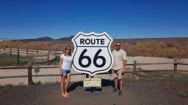 panneau Route 66 à Williams
