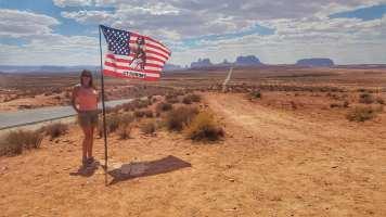 sur la route vers Monument Valley