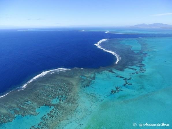 Nouvelle Caledonie survol au-dessus du cœur de voh – récif et lagon