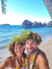 Cérémonie traditionnelle de mariage polynésien à Bora Bora