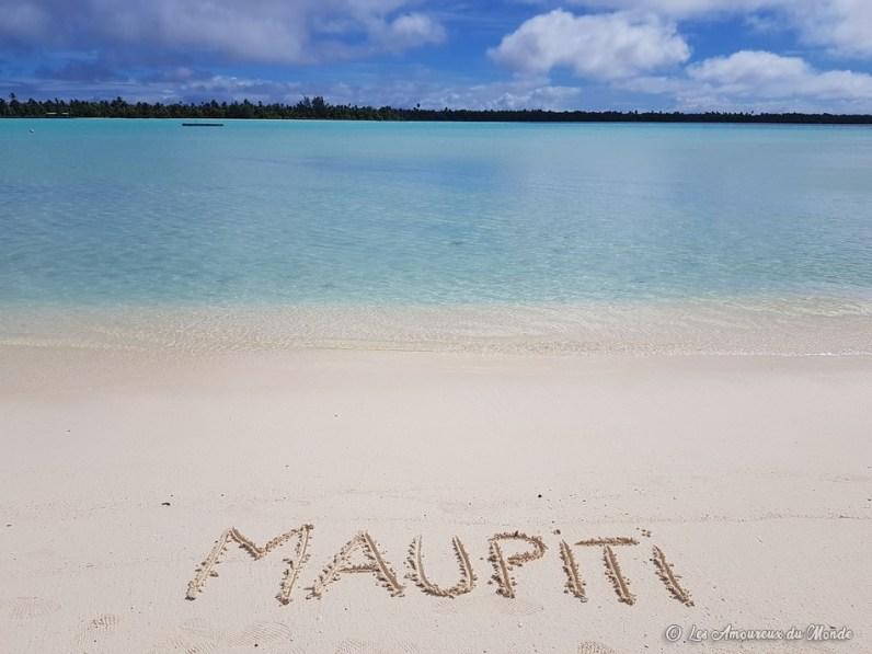 plage à Maupiti - Polynésie française