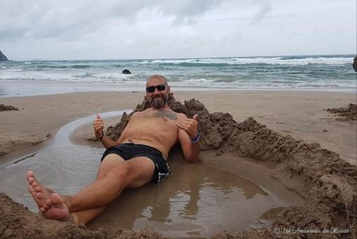 jacuzzi naturel Hot Water beach Nouvelle-Zélande