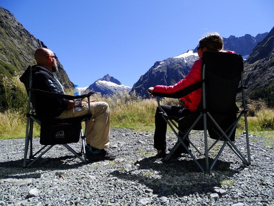 pause déjeuner en Nouvelle-Zélande