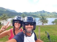 balade en scooter à Huahine - Polynésie française