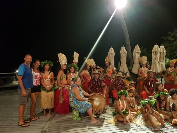 spectacle polynésien à Rangiroa
