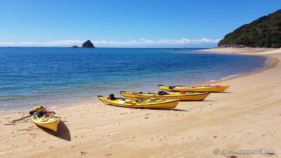 faire du kayak au parc Abel Tasman en Nouvelle-Zélande