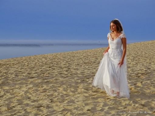 Mariée à la Dune du Pilat - Arcachon