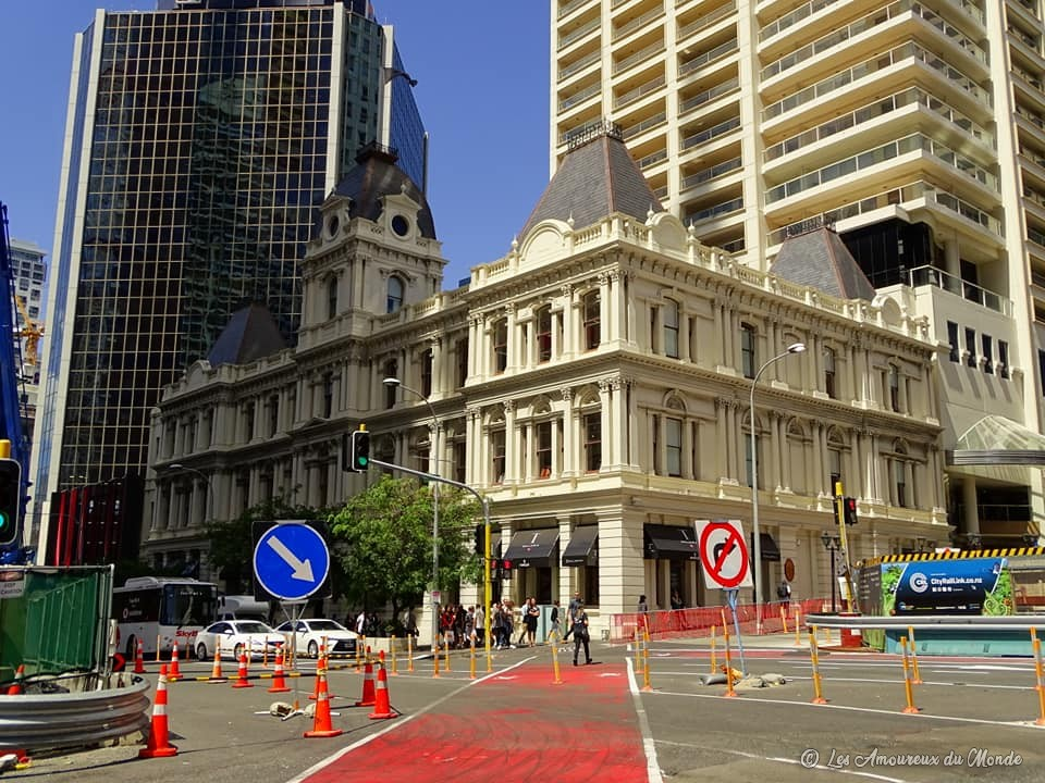 Bâtiment des douanes de 1889 reconverti en boutique duty free - Auckland