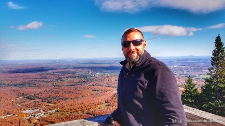 Vue au sommet du Mont Orford - Cantons de l'Est - Canada