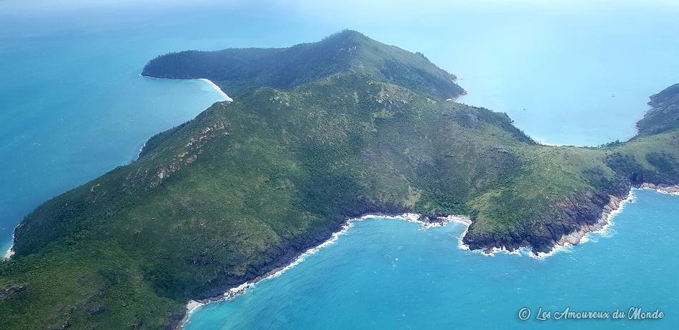 Vol au-dessus des Whitsunday et de la Grande barrière de corail - Australie