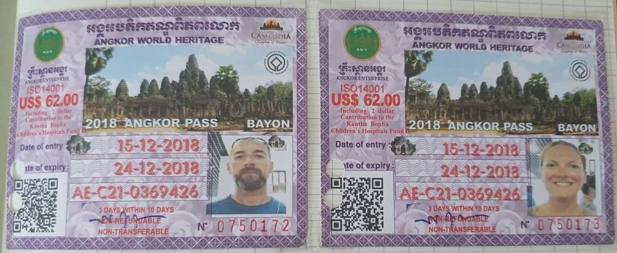 Pass 3 jours Temples d'Angkor - Cambodge