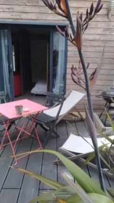 terrasse studio Airbnb Sauzon
