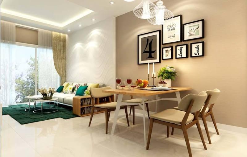 Phòng khách căn 2 PN 88m2 tại Centana Thủ Thiêm