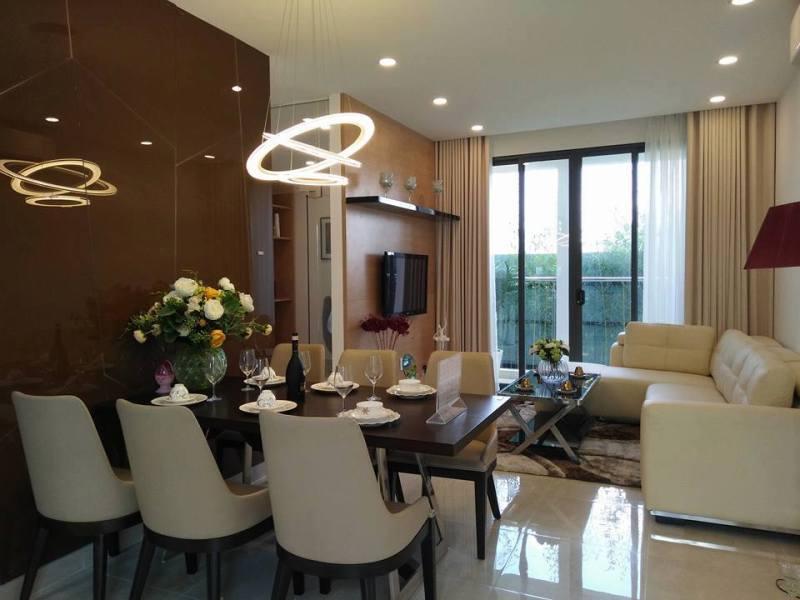 Phòng khách căn 3 PN tại Centana Thủ Thiêm