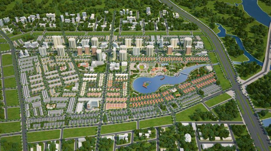 Phối cảnh tổng thể dự án Căn hộ 9X Ciao trong quần thể khu đô thị Đông Tăng Long