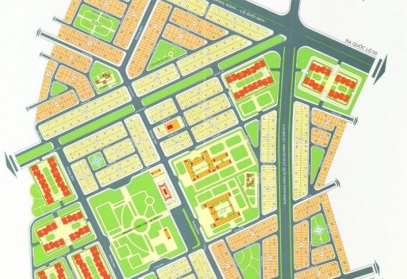 Mặt bằng tổng thể dự án nhà phố Khang Điền Bình Chánh