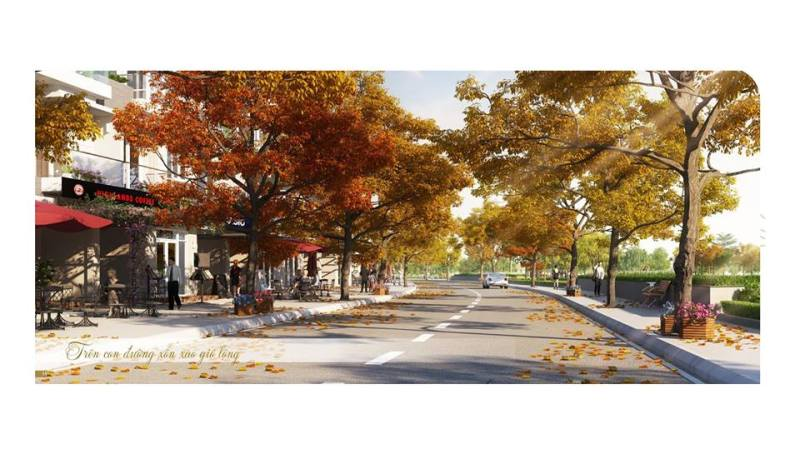 Phối cảnh đường nội khu tại dự án Rio Vista Quận 9