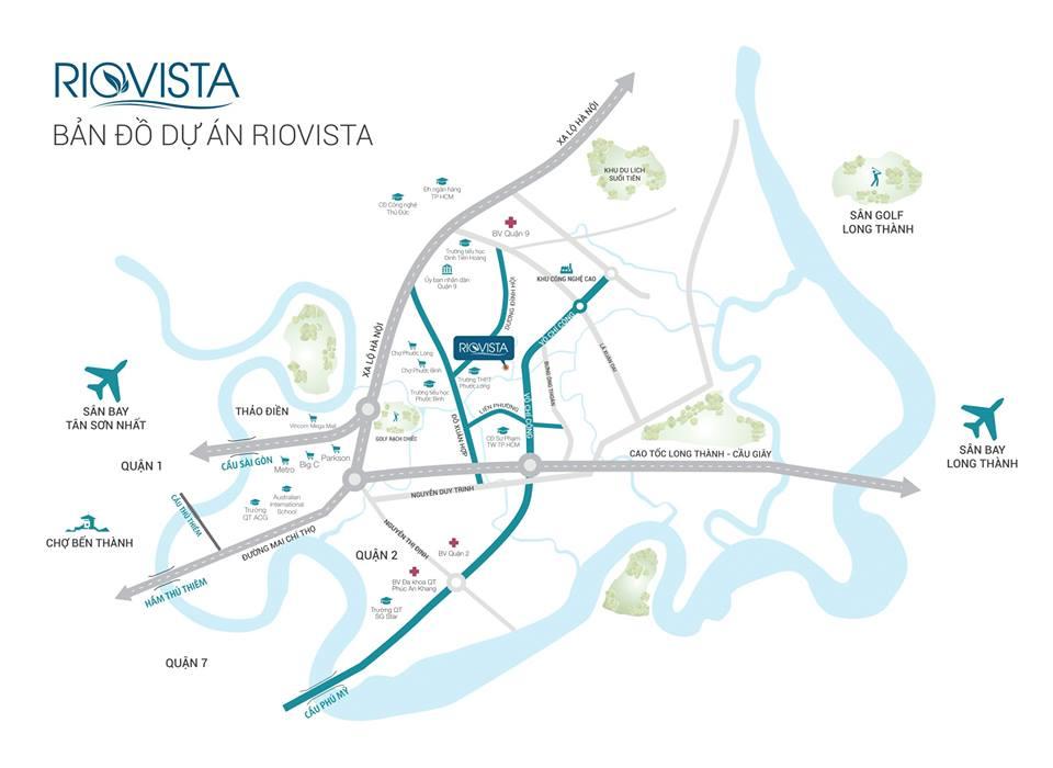 Vị trí dự án nhà phố Rio Vista Quận 9