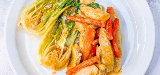 Recette céto poulet curry