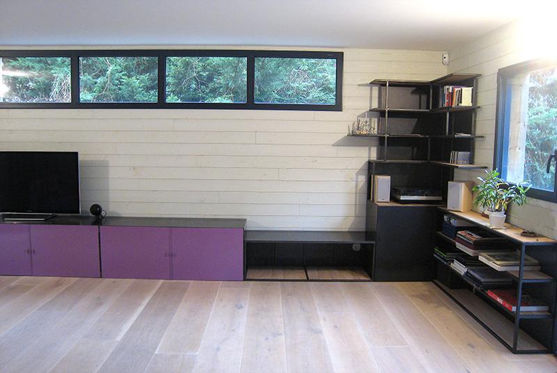 Meuble Bibliothque Multifonctions Mtal Et Bois Les