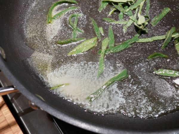 sage in brown butter sauce