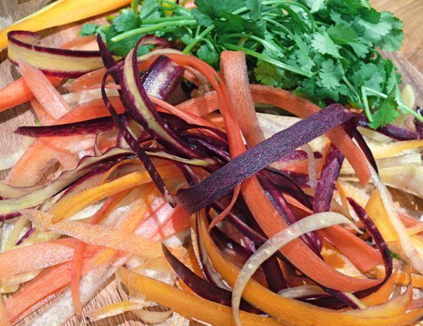 carrot shavings