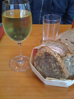(chablis and) bread...