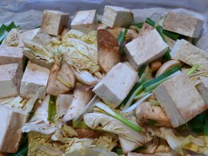marinated vegetables and tofu