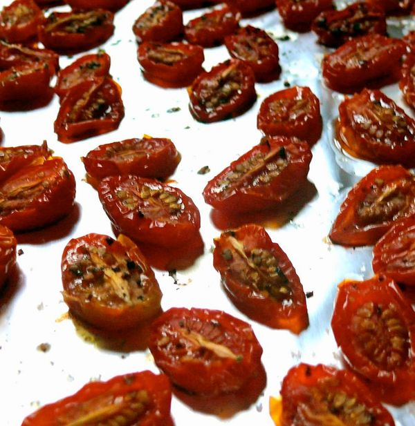 oven-roasted grape tomatoes