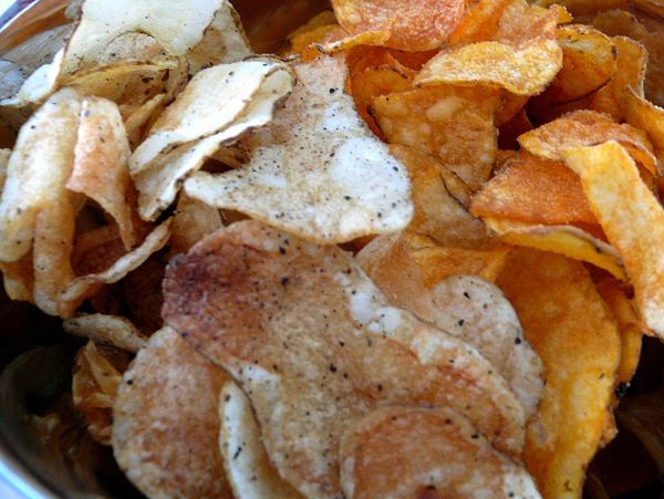 salt & cracked pepper and sweet bbq chips