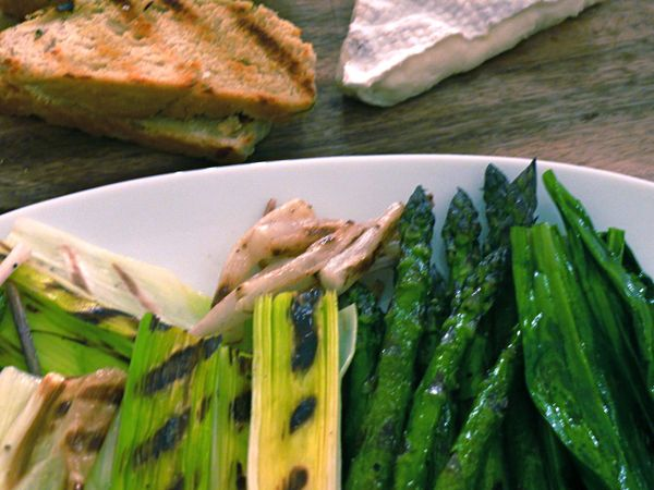 a (pungent!) grilled dinner