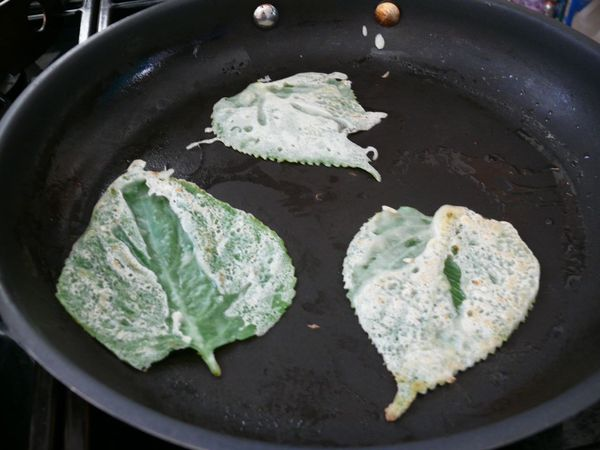 fried perilla leaves