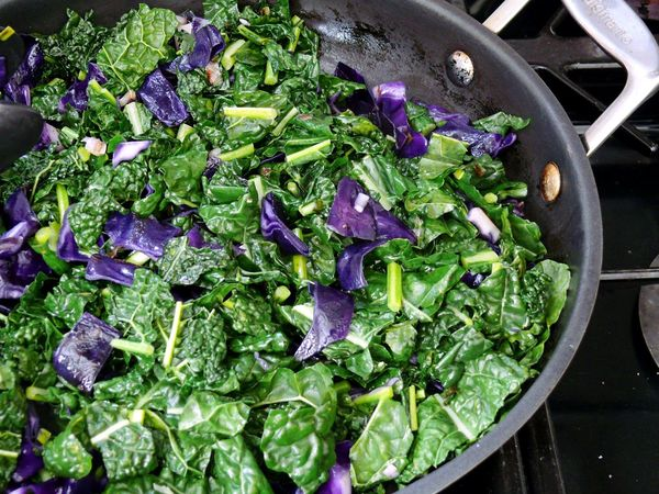 kale and red cabbage