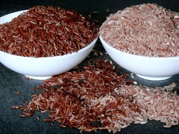 red basmati and red samba kakalu rice