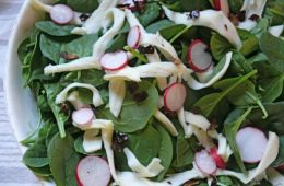 salad with dried chilies and oaxaca