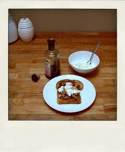 mushroom toast, balsamic and ricotta