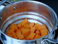 steamed sweet potato