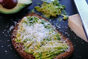 avocado, parmesan toasts