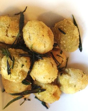 fried olives--worth it, it turns out