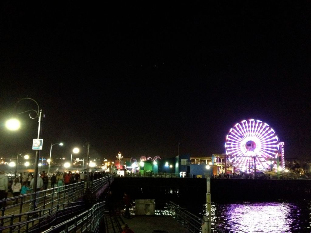 no vampires or lost boys that night at the santa monica pier