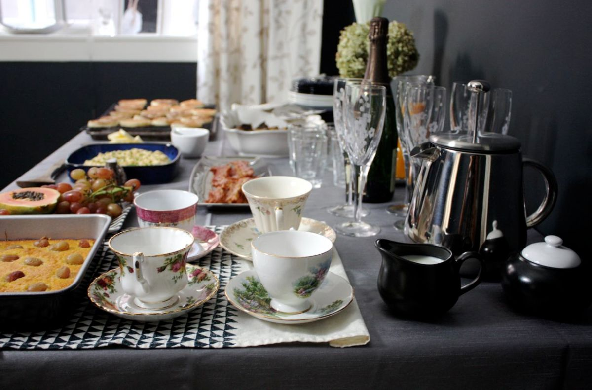 tea service for brunch