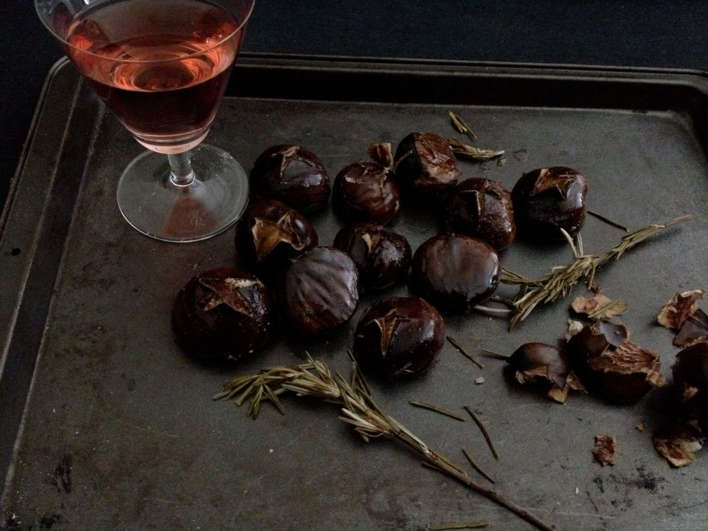 roasted chestnuts and rose