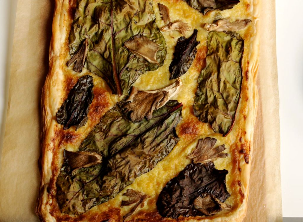 chard and leek cream tart