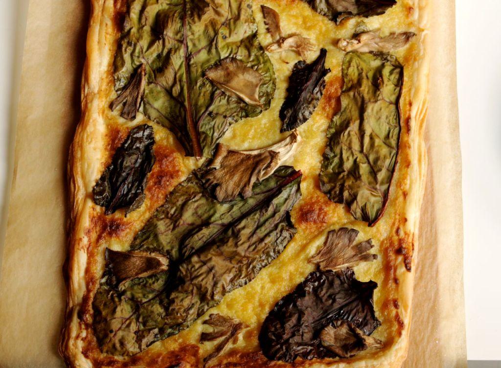 chard and leek cream tart