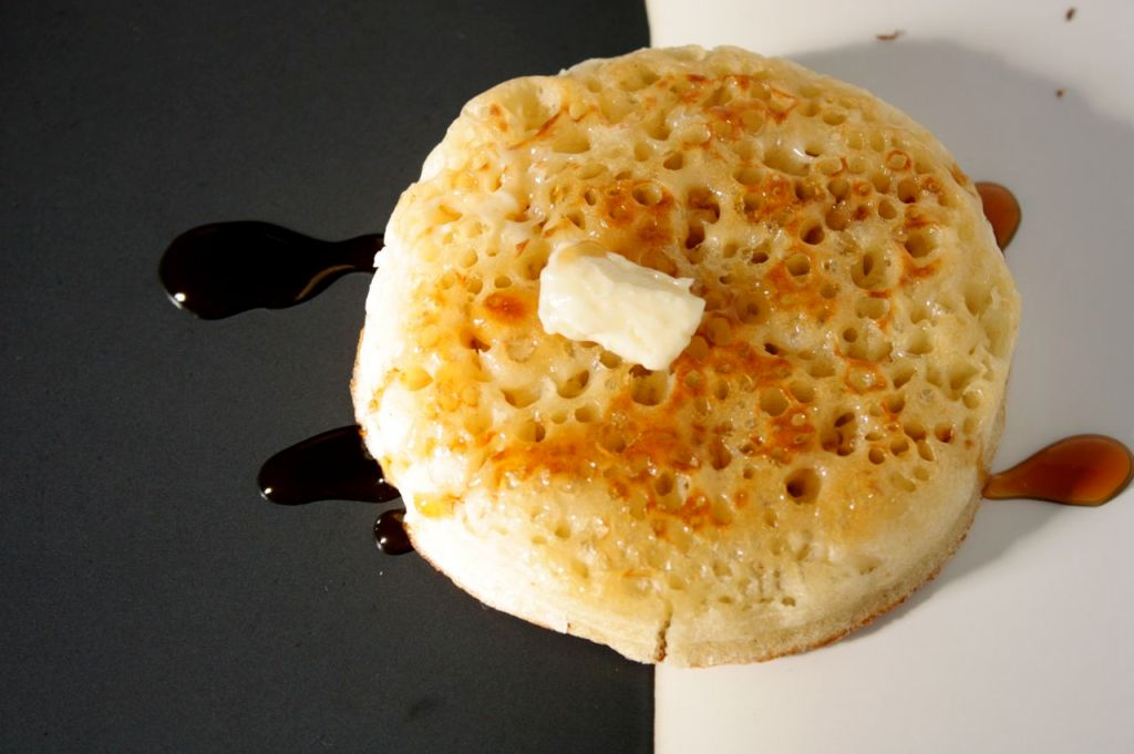 honey and butter crumpet