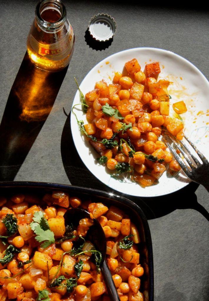 spanish potatoes chickpeas